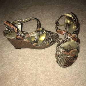 Shoes - Colorful Wedges never been worn!!